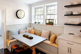 breakfast nook bench kitchen transitional with banquette seating