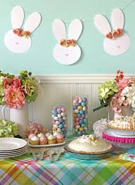 Easter Decorating Party Ideas by The Craft Patch Easter Party Dessert Table Floral Bunny Garland