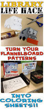 library life hack u2013turn flannelboard patterns into coloring sheets