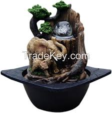 elephant water fountain desk top fountain indoor polyresin water