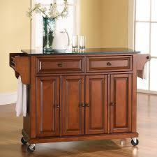 kitchen islands lowes shop crosley furniture brown craftsman kitchen island at lowes