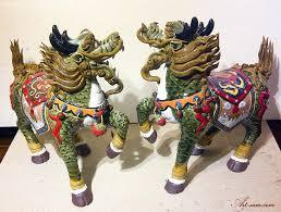 qilin statue qilin imperial creature feng shui ceramic statue