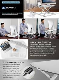 Convert Sitting Desk To Standing Desk by Amazon Com Mount It Standing Desk Ergonomic Height Adjustable