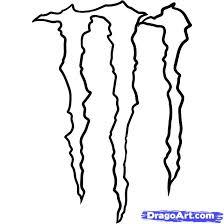 draw monster energy logo monster logo step step