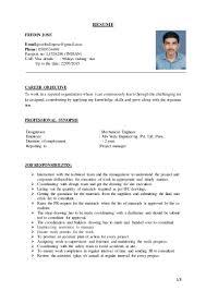 career objective for resume mechanical engineer fredin jose resume