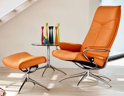 Stressless Recliner Chairs Reviews Ekornes Stressless City High Back Leather Recliner And Ottoman