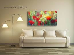 poppy home decor painting abstract abstract wall art poppy painting living room