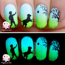 piggieluv epic dog story 5 glow in the dark manis