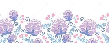 flowers seamless pattern element vector background soft purple flowers horizontal seamless pattern background border