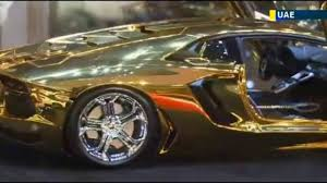 golden lamborghini gold and diamond studded lamborghini video dailymotion