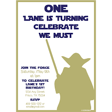 starwars first birthday party invitation kateogroup