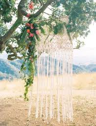 wedding backdrop outdoor picture of macrame knotted wedding backdrop for outdoor weddings