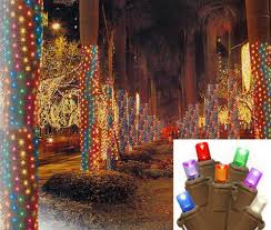 How To Wrap A Tree In Lights 2 U0027 X 8 U0027 Warm White Led Net Style Tree Trunk Wrap Christmas Lights