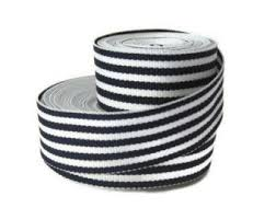 blue and white striped ribbon white and blue 7 8 striped grosgrain ribbon by the yard