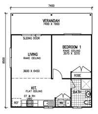granny flat floor plan meadow lea 1 bedroom granny flat kit home kit homes online