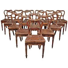 Nesting Dining Table Set Of 18 Dining Chairs Attributed To Gillows For Sale At 1stdibs