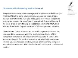 Dissertation Thesis Writing Services in Dubai SlideShare