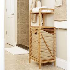 wood tilt out laundry hamper tilt out bamboo slat laundry hamper 6231 1 116 00