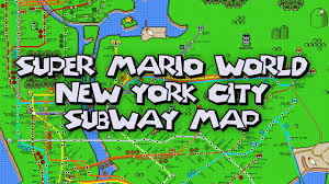 Metro Map Nyc by New York City Subway Map In The Style Of U0027super Mario World U0027