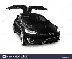 suv tesla black 2017 tesla model x luxury suv electric car with open falcon