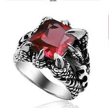 black ruby rings images Personalized men 39 s rings men 39 s rings domineering titanium steel jpg