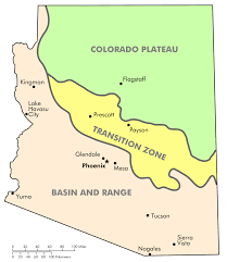 Map Of Arizona Cities Arizona Transition Zone Wikipedia
