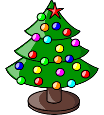christmas tree with sun clipart collection
