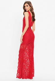 lace maxi dress plunge scallop trim lace maxi dress missguided