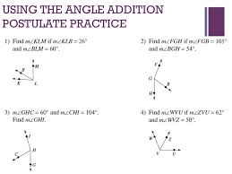 Angle Addition Postulate Worksheet Answers Do Now Complete 1 5 On The Proofs Worksheet That You Picked Up