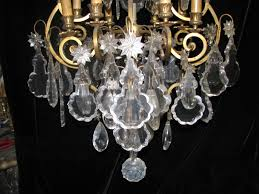 French Chandelier Antique Ch40 Antique French Louis Xv Style Cut Crystal Bronze 8 Light