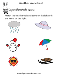 weather wear matching seasons worksheets preschool weather and