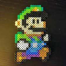 made this perler fused bead luigi while supervising five kids