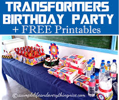 transformers birthday transformers inspired birthday party ideas and free printables a