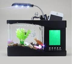 aquarium bureau acheter mini usb lcd de bureau noir réservoir de poissons d aquarium