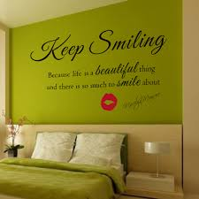 nice marilyn monroe quote decal girl room decor ideas bedroom full size of decoration gorgeous bedroom wall sticker black marilyn monroe quote decal keep smiling