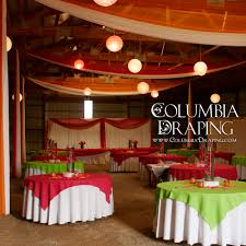How To Hang Ceiling Drapes For Events Pricing Columbia Draping