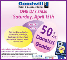 Goodwill Furniture Donation by Goodwill Easter Sale Sunny 106 3