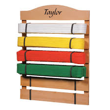 Personalized Desk Organizer by Personalized Karate Belt Rack Karate Belt Display Miles Kimball