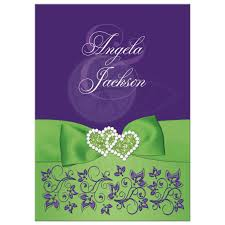 green wedding invitations lime green white purple floral wedding invitation printed