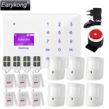 Spanish For Home Aliexpress Com Buy New Earykong Gsm Alarm System Touch Keyboard