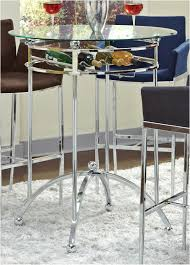 bar height glass table tall glass table unique coaster fine furniture modern bar height