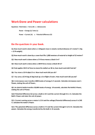 power and work done worksheet by akhan047 teaching resources tes