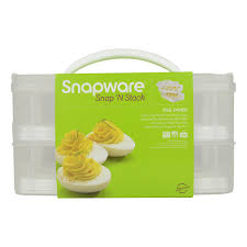 deviled egg holder snapware snap n stack food storage container with egg holder