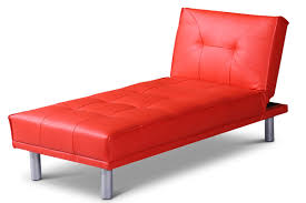Chaise Lounge Sofa Beds by Manhattan Fold Down Chaise Longue Small Sofa Bed Red Faux Leather