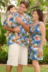 red hibiscus island matching tropical print for family
