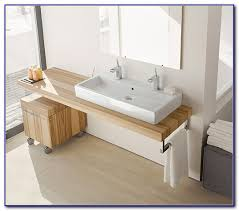 trough bathroom sink with two faucets canada faucets home