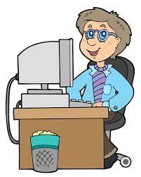 bureau dessin employé de bureau de dessin animé illustration de vecteur