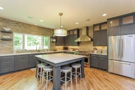grey kitchen island 50 gorgeous kitchen designs with islands designing idea