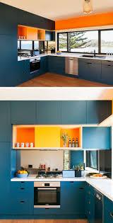 orange kitchens ideas kitchen design idea blue kitchens contemporist