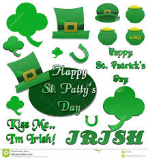 set of isolated st patrick u0027s day clip art royalty free stock